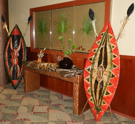 African props for rent for a safari theme party or event for African party decoration ideas