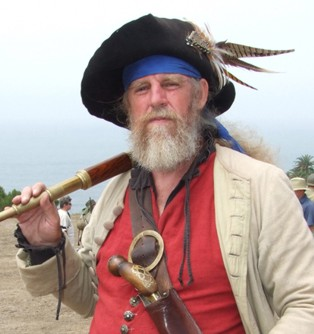 pirate actor, sea captain character, ghost pirate character,