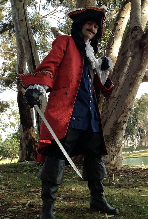 Captain Hook Character for birthday party