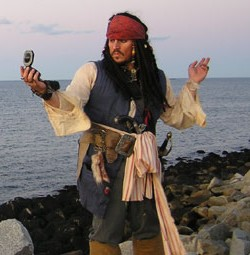 Jack Sparrow in Boston Massachusetts and pirate entertainer