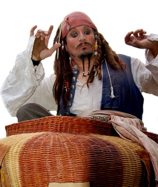 Jack Sparrow in San Francisco and pirate entertainer