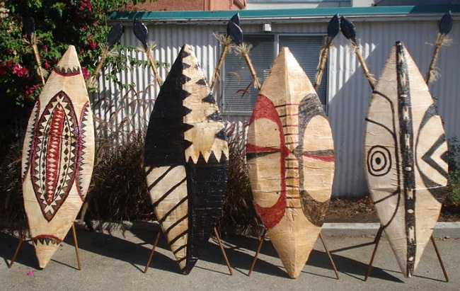 African theme props for rent  picture of African Shields for rent