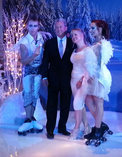 snow themed and froaen themed entertainers and entertainment