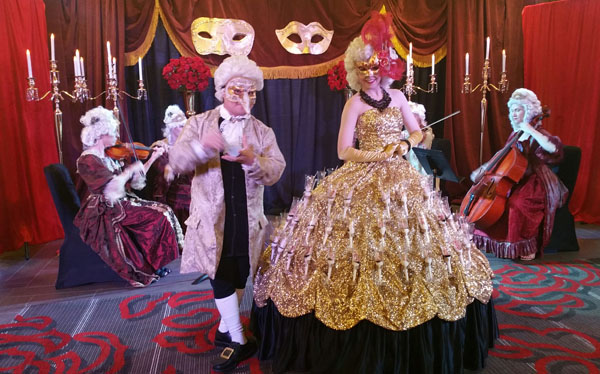 Masquerade ball event planner, music, decor, design art, and more