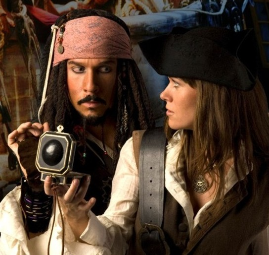Jack Sparrow with Elizabeth Swan in Orlando FL