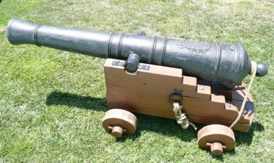 large pirate cannon or carriage gun