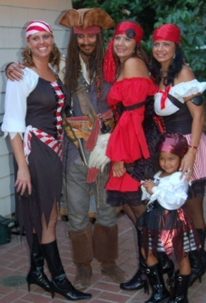 Pirate party entertainer for hire in Orange County California