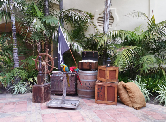 pirate props for corporate event rental