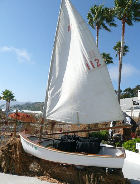 antique sail boat for rent for nautical theme event or photo op display